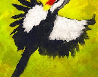 Pileated Woodpecker Print, Pileated Woodpecker, Woodpecker, Bird Print, Wall Art, Wildlife Art, Bird Painting