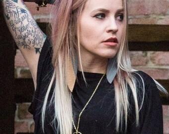Free Spirit Bullet Leather Drop Earrings