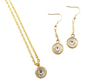 "45 ACP Bullet ""2nd Amend"" Jewelry Set"