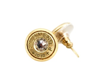 "9mm ""2nd Amend"" Bullet Studs"