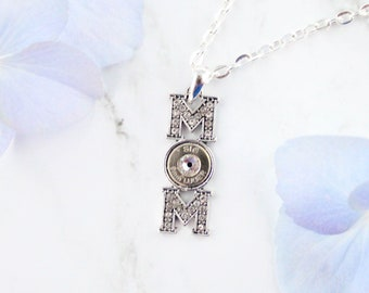 "Bullet ""Mom"" Necklace"