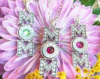 """Bullet """"Mom"""" Necklace"""
