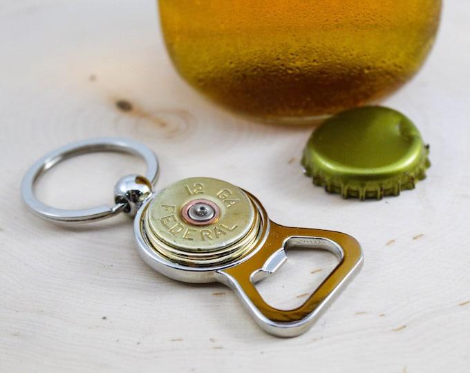 Featured listing image: Shotgun Bullet Bottle Opener Keychain