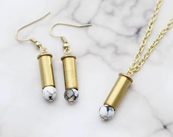 Dragon Vein Agate Jewelry Set