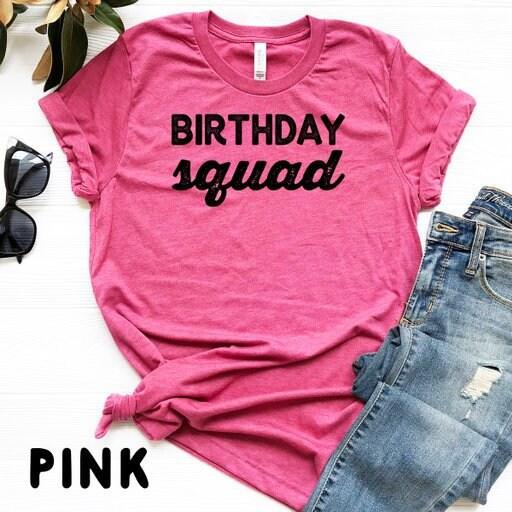 Birthday Squad Shirt Tanks Sweatshirt Group Shirts Bar