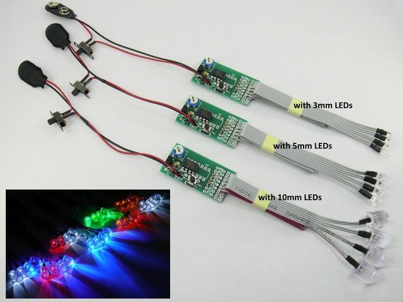 RC LED Light Kit  Strobe & Flash Effects Chaser Lights System image 0