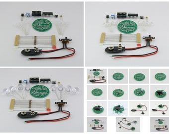 LED Light Chaser Beacon Round Sequencer Scroller Strobe 8x LEDs  DIY Kit Set Assembling kit Circuit