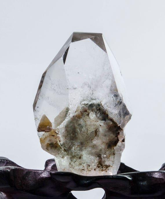 Clear Crystal Tower,Clear Quartz Point,Quartz with Inclusions Jewelry,Quartz Crystal Necklace,Lodalite Phantom Quartz Tower