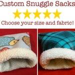 Custom Critter Snuggle Sack for Guinea Pigs, Hedgehogs, and other small pets! Cuddle Sack, Sleep Sack, Burrow Bag