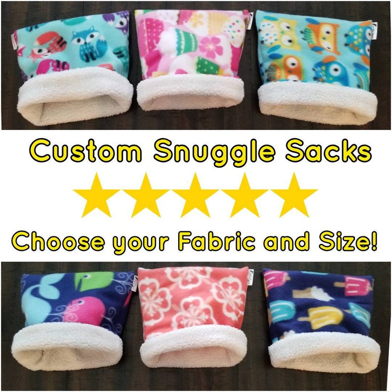 Custom Critter Snuggle Sack for Guinea Pigs Hedgehogs and image 0