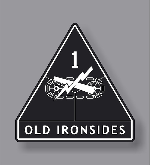 1st ARMORED DIVISION OLD IRONSIDES Vinyl Decal Sticker