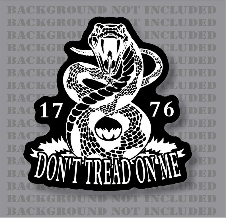 Don/'t Tread On Me Decal Vinyl Graphic Bumper Sticker Window Gadsden Flag Snake