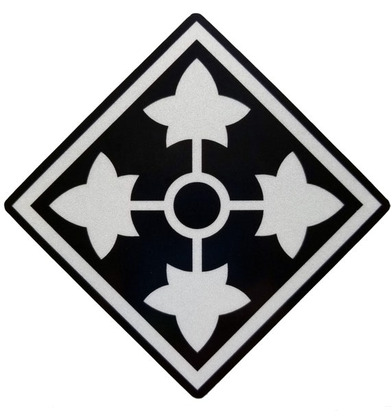 4th Infantry Division Army Ivy American Flag sticker decal