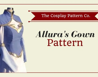 Allura Princess Gown Cosplay from Legendary Defenders | PDF Sewing Pattern | Multi Size - 6-12