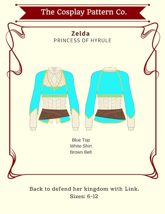 Zelda Breath Of Wild Cosplay Sewing Pattern PDF INSTANT | Etsy