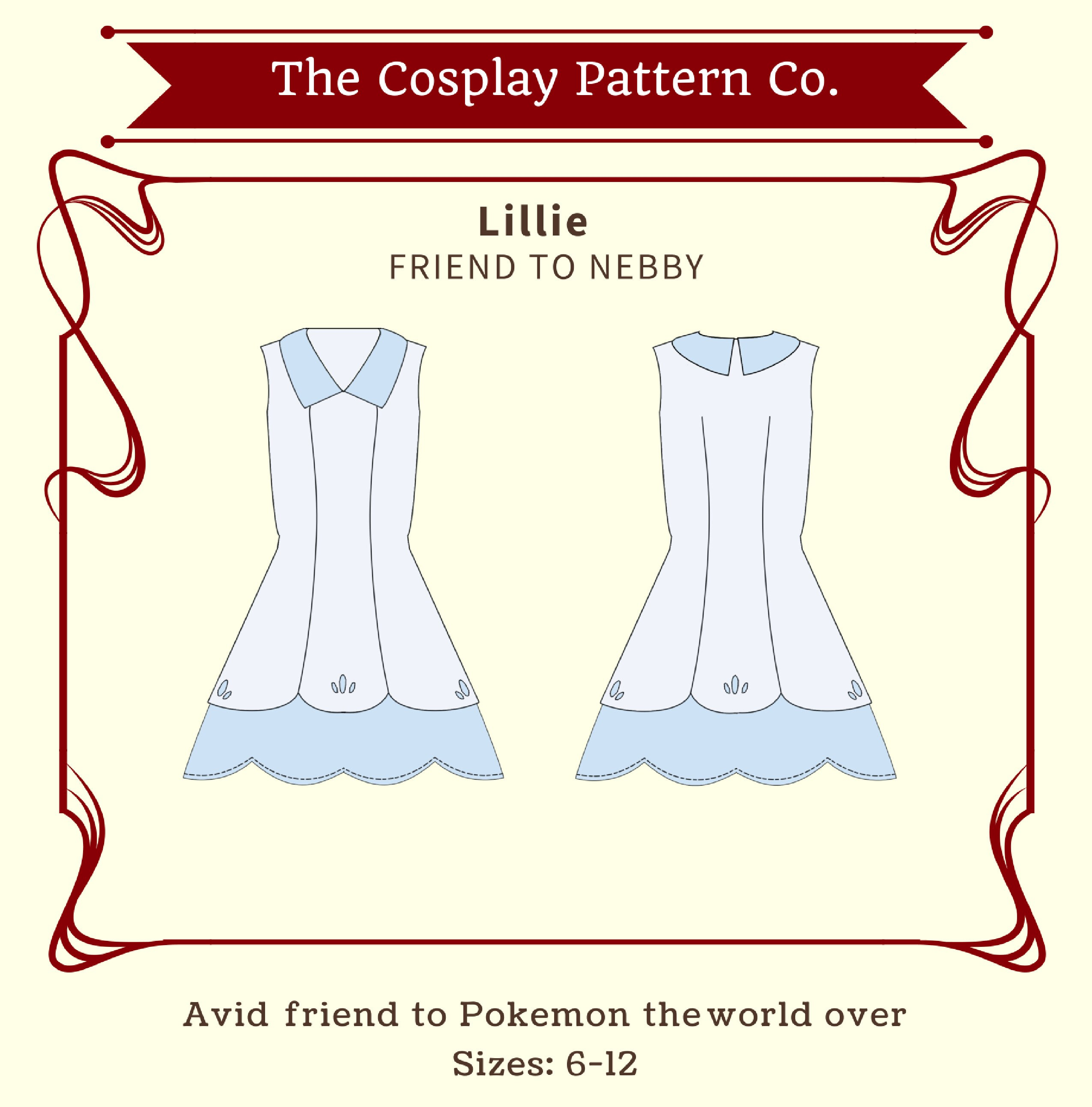 Lillie Pokemon Sun & Moon Cosplay Sewing Pattern PDF INSTANT | Etsy