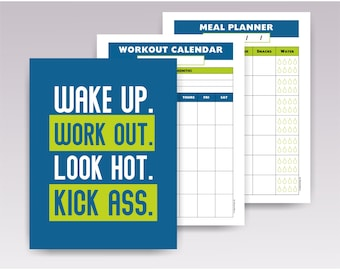 2019 workout planner | Etsy
