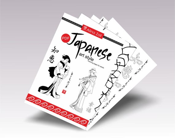 1040+ Japanese Coloring Book For Adults Free Images