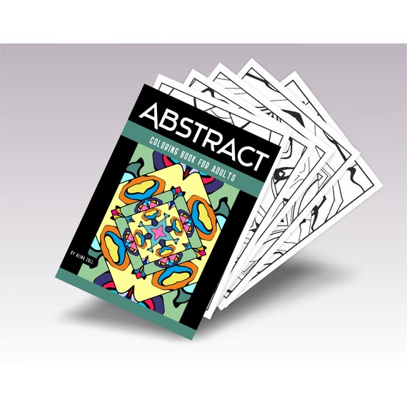 Abstract Adult Coloring Book Download PDF Coloring Pages For Etsy