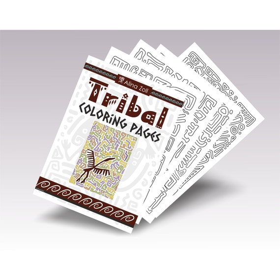 - Adult Coloring Book Pdf Tribal Adult Coloring Pages Etsy