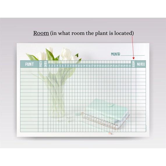 Plant Watering Schedule Template, Printable Plant Watering Chart A4 |  Indoor Plant Watering Tracker Template PDF Digital Download