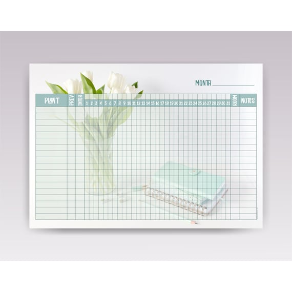 Plant Watering Schedule Template, Printable Plant Watering Chart A4 |  Indoor Plant Watering Tracker Template PDF Digital Download