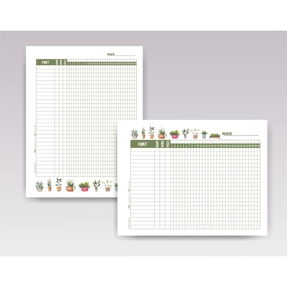 Plant Watering Schedule Template, Printable Plant Watering Log, Indoor  Plant Tracker PDF Download, House Plant Planner