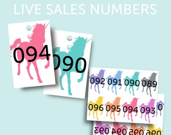 1-200 Unicorn Live Sales Numbers, Regular & Reversed