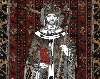 St Thomas Becket Medieval Saint Cross Stitch Card Kit