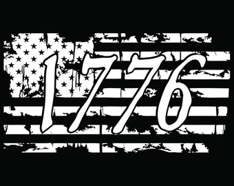 1776 Decal | Car Decal | Independence Day Decal | Vinyl Decal | American Flag Decal | Laptop Decal
