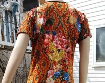 comfortable Summer dress/ size large/stretch dress/XL/bohemian/90s/festival