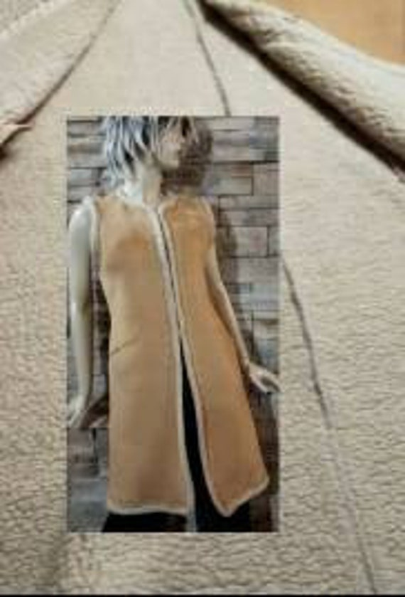 Faux Suede Afghan Hippie Overcoat