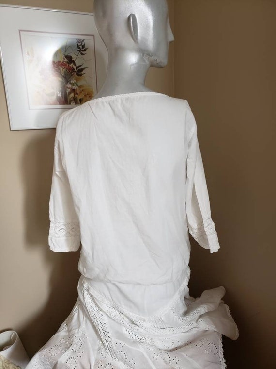 White cotton lace blouse - image 5
