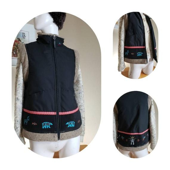 Embroidered Inuk waistcoat