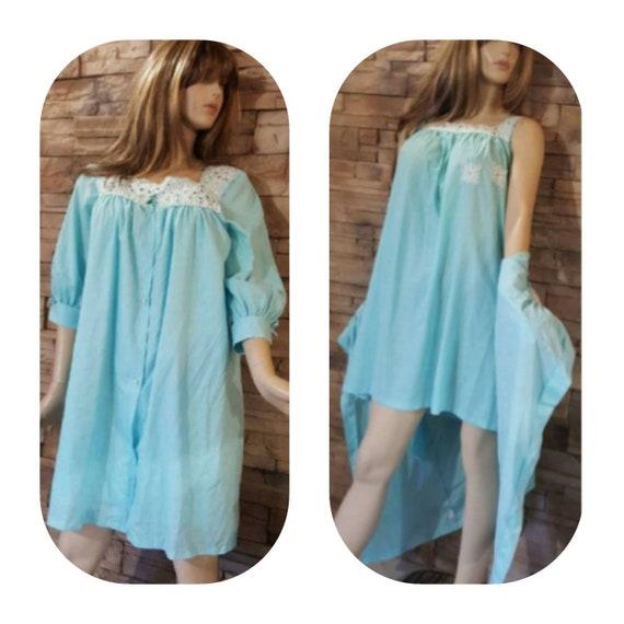 2 Piece Short Nightgown Set