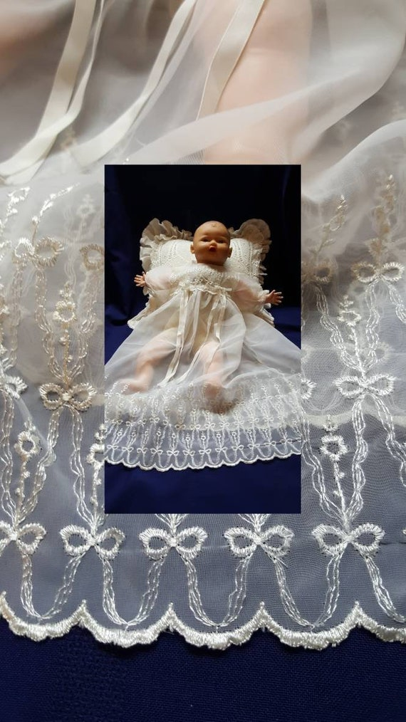 Christening Gown Ivory Baptism Baby Dress