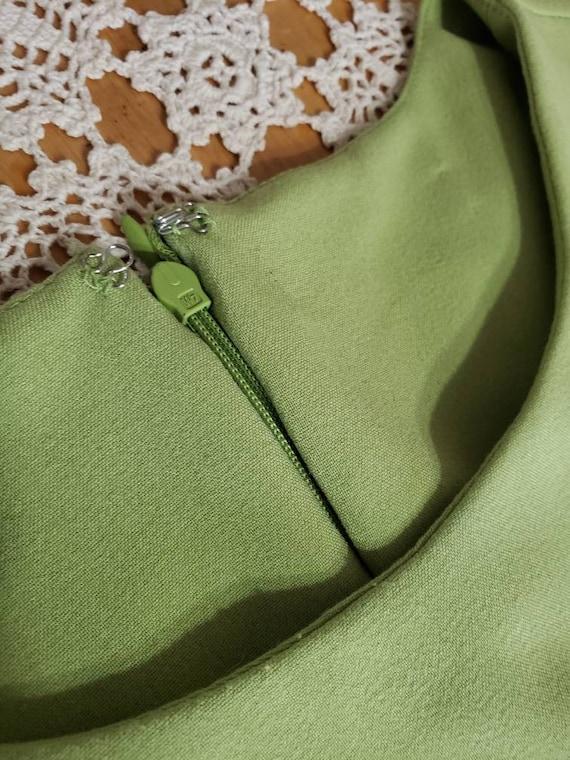 Classic Elegant  Green Dress - image 6