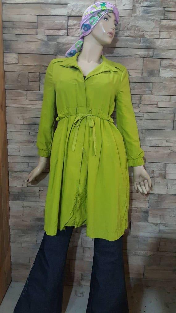 Apple Green Vintage Trench Coat