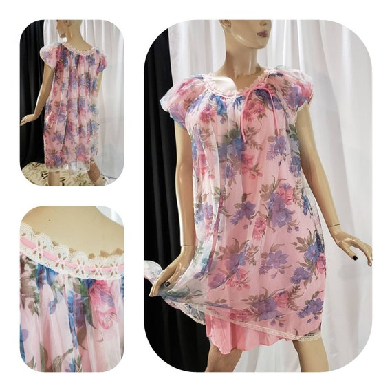Rockabilly floral nightgown