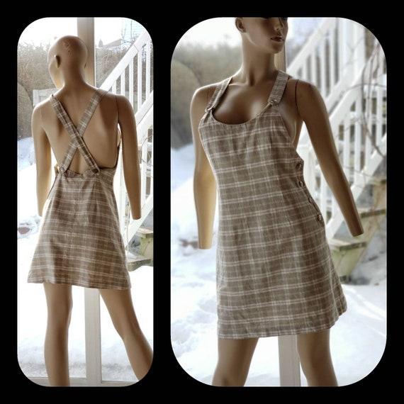 Linen/cotton Overalls Dress