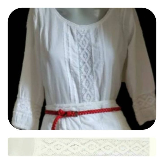 White cotton lace blouse - image 1