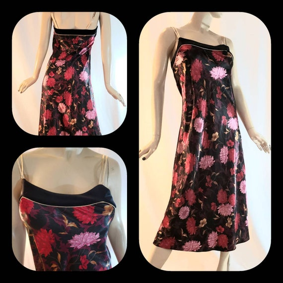 Floral Print Silky Nightgown