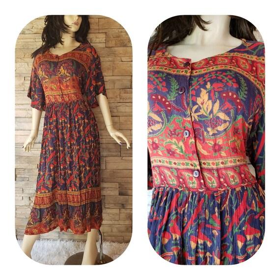 Large Size Bohemian Dress