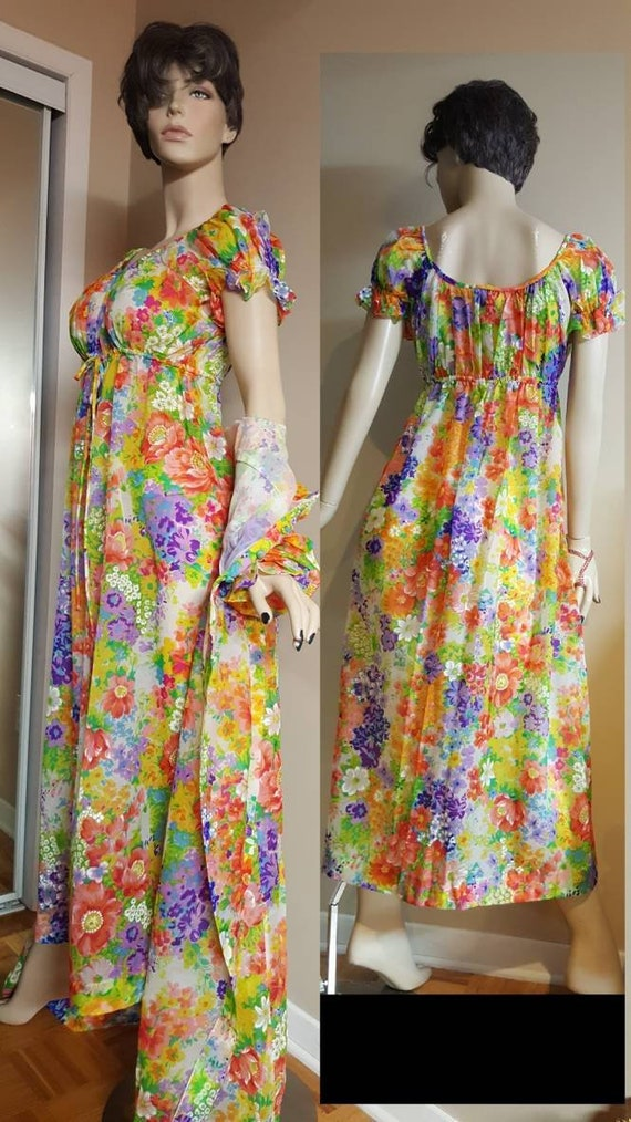 Floral Nightgown & Robe