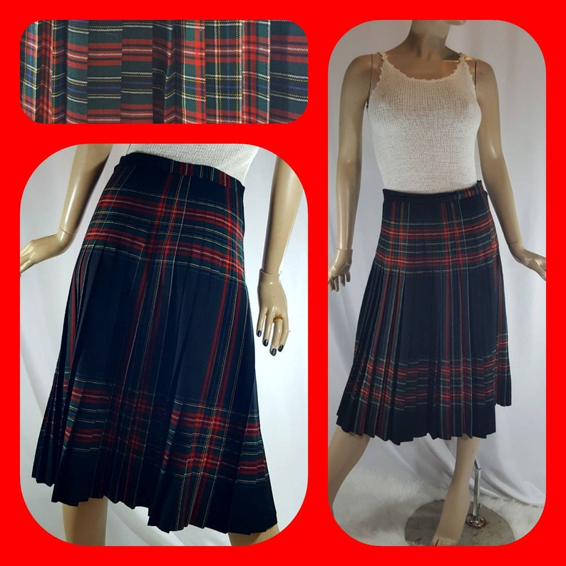 aef19caa6c Highland Queen pleated Pure woolen Skirt | Etsy