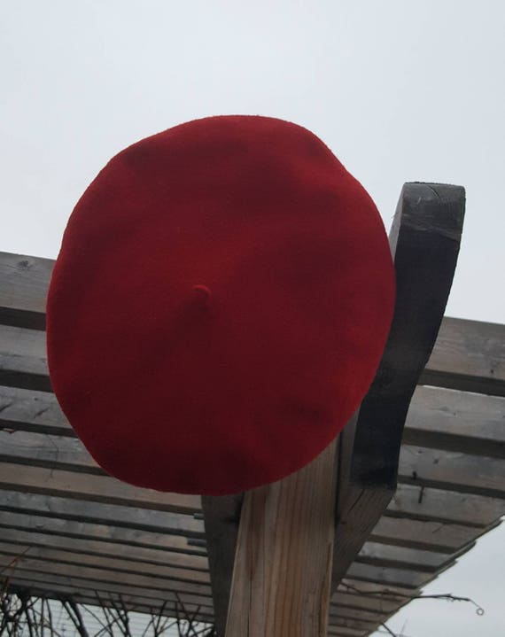 red French beret / 100% wool - image 10