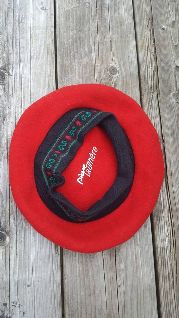 red French beret / 100% wool - image 8