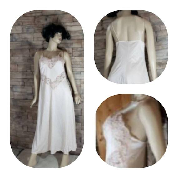 Long Lace Nylon Nightgown Dress Slip