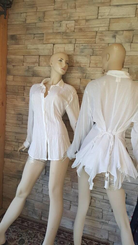 Off White Cotton Blouse