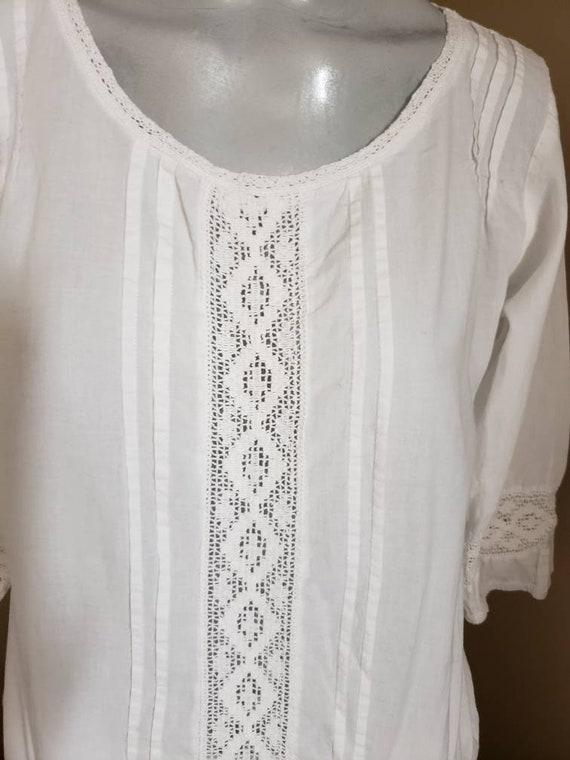 White cotton lace blouse - image 2